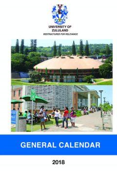 2018 General Calendar