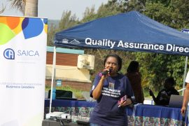 Pictured: UNIZULU Accounting and Auditing Head of Department, Sphelele Khomo, during the BCom in Accounting Science degree SAICA Awareness Campaign.